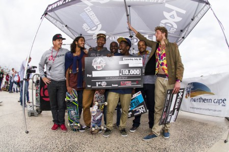 Over 17 Podium at the KDC Grand Slma skateboarding event