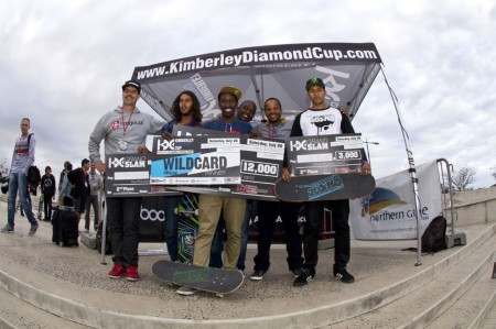 Rider Cup Podium at the KDC Grand Slma skateboarding event