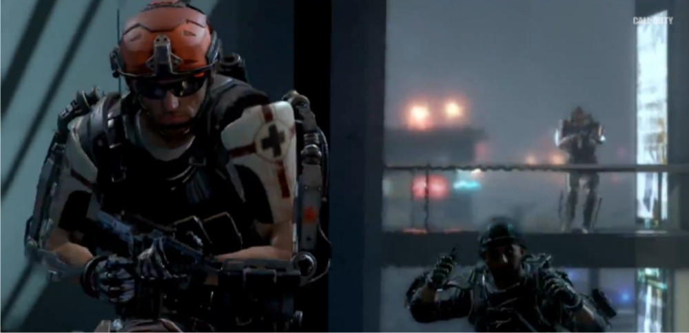 The multiplayer reveal trailer for Call of Duty Advanced Warfare for Playstation 3, Playstaion 4, Xbox 360, Xbox One and PC