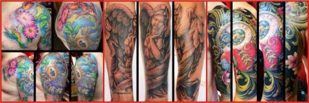 Freehand tattoos by Tony Weintraud