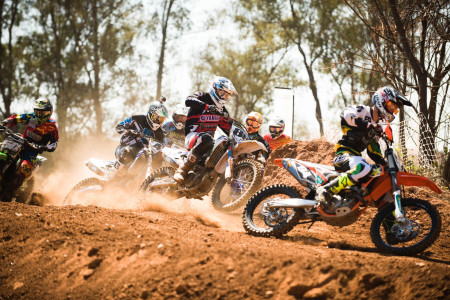 Motocross action coming from the MX2 class