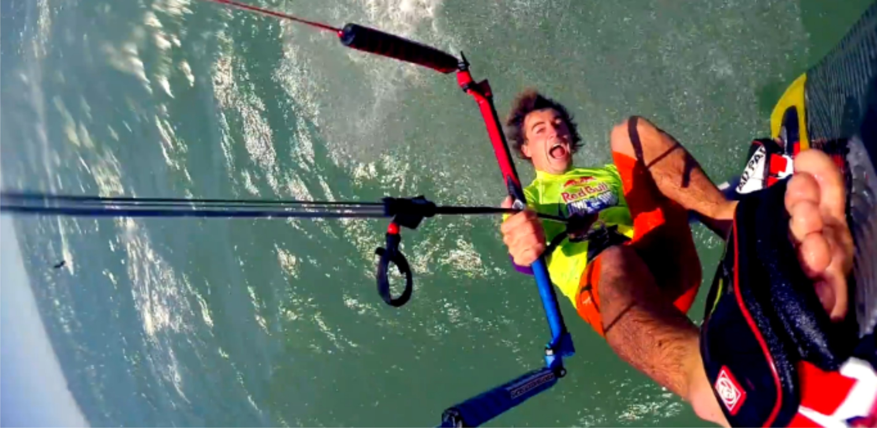 Luke McGillewie Kiteboarding action in preparation for Red Bull King of the Air 2015