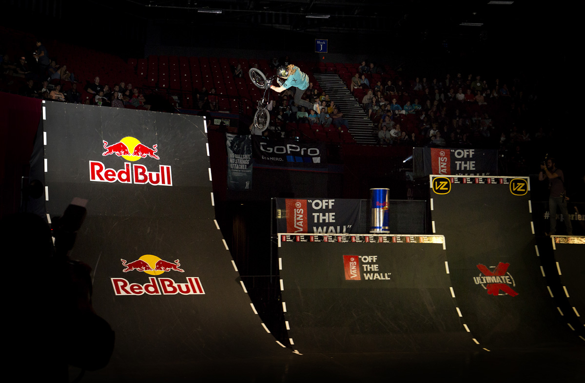 Greg Illingworth taking the BMX Best Trick at Ultimate X 2015