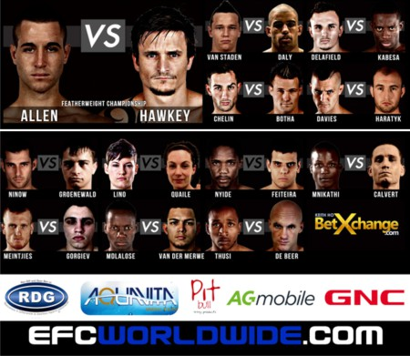 EFC 38 Fight card packed with Mixed Martial Arts action