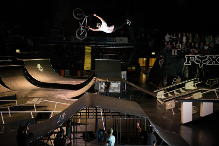It was the Kevin Peraza show during the BMX finals