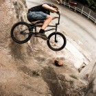 Kevin Schnider getting in some time in front of the lens on this unusual concrete bank air