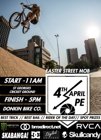 Catch the Easter Street Mob BMX Jam in PE this weekend