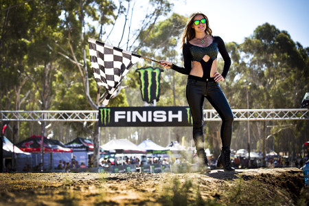 Monster Energy Girls kicking off Round 2 of the SA motocross nationals