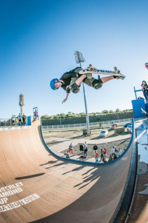 Vert skate action happening at the Midway Mayhem