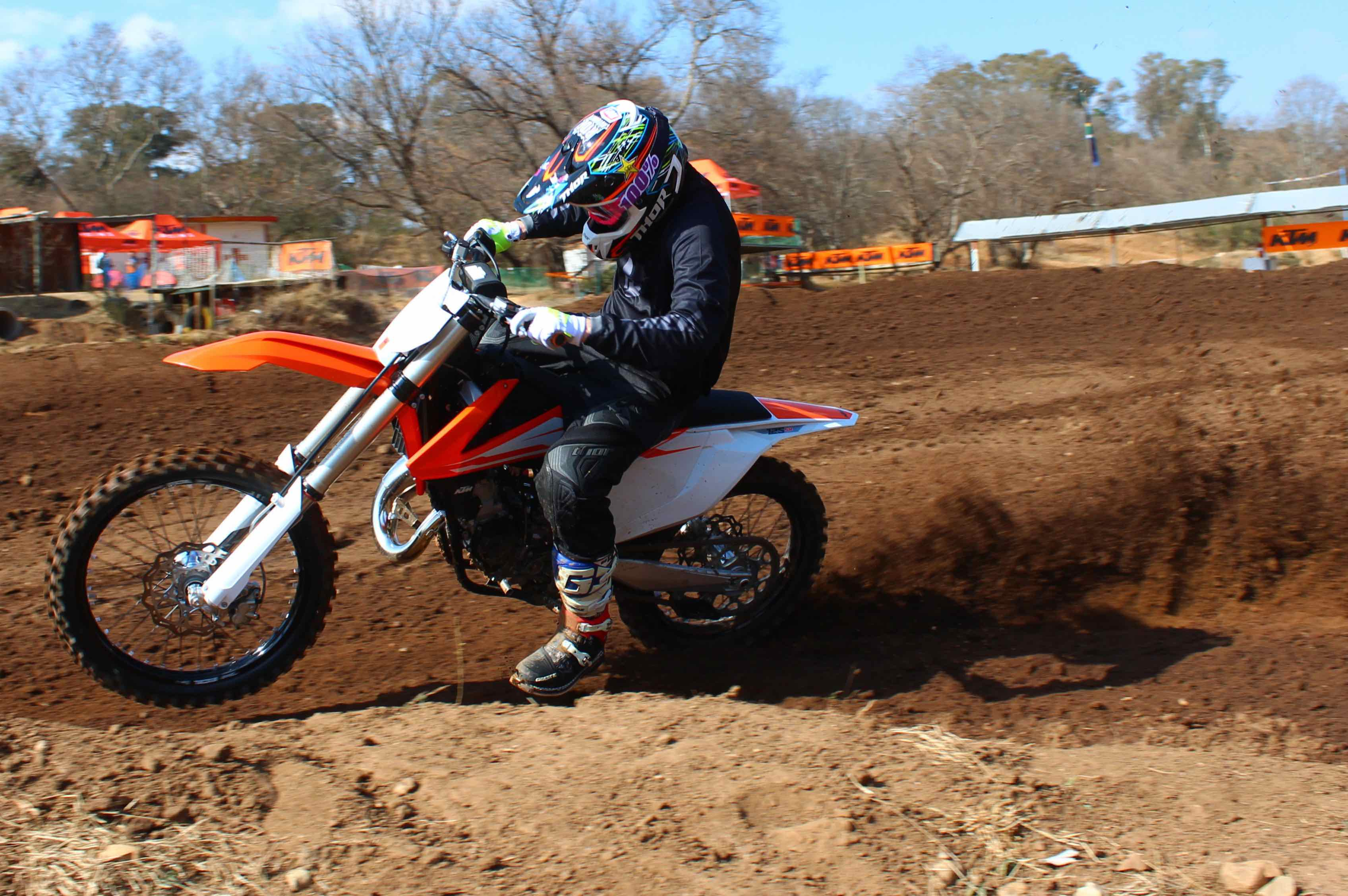 Couper Testing Out The 2016 Ktm 125 Sx Motocross Bikes