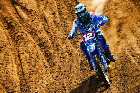 Motocross action from Dirco van der Westhizen at round 4 of the nationals