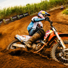 Kerim Fitz-Gerald owning and taking the MX2 and MX1 victory at round 4 of the Motocross Nationals