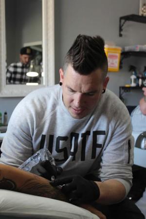 Tattoo Artist Thys Uys of Fallen Heroes Tattoo Studio