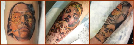 A selection of Tattoos done by Thys Uys of Fallen Heroes