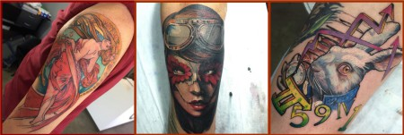 More tattoos by the talented Thys Uys
