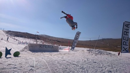 JTK skiing his way to victory at the Xperia Winter Whip