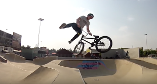 BMX video featuring Malcolm Peters and Matty Duffy at the Stoneridge Skatepark
