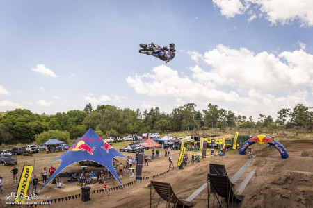 Dallan Goldman winning the Best Whip comp at the 4Front Live FMX Open Day