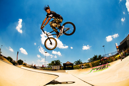 Amateur BMX riders throwing down at the Redemption Jam 2015
