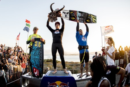 Red Bull King of the Air 2016 podium