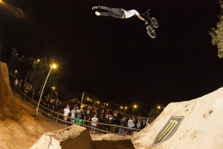 Kevin Peraza taking the BMX win at The Night Harvest
