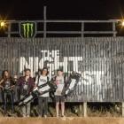 The Night Harvest BMX winners podium