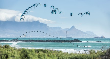 Kevin Langeree showing his kiteboarding skill in the King of the Air final