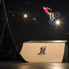 Kenneth Tencio during the Ultimate X 2016 BMX final