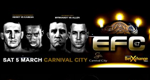 The first MMA fight card of 2016 is hear by way of EFC 47