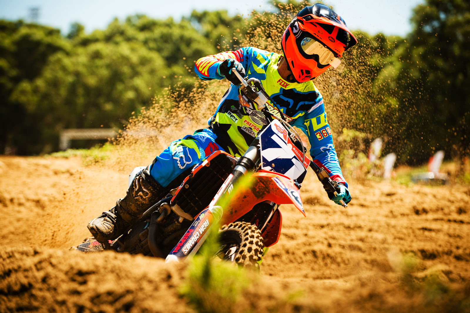 Brittany Cuthbert leading the Ladies motocross class