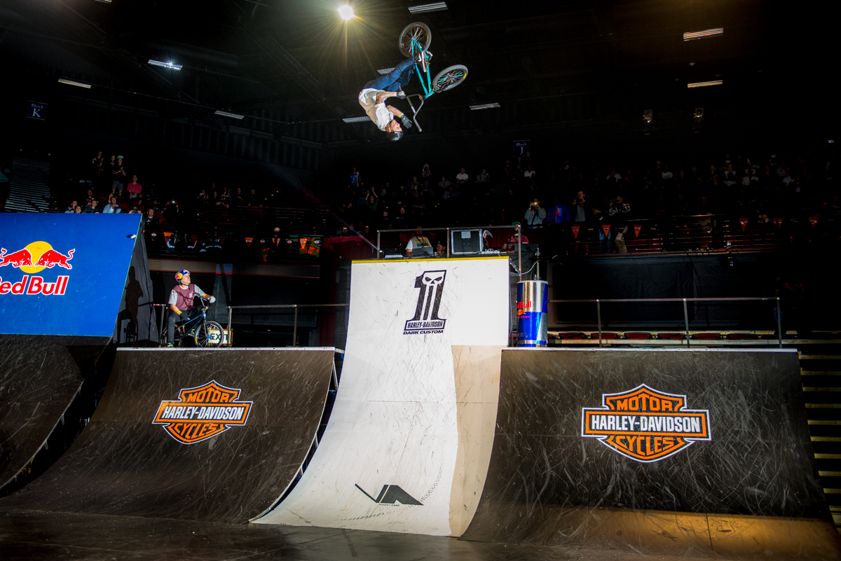 Brock Horneman during the Ultimate X 2016 BMX final