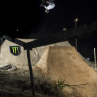 Alex Coleborn during the BMX contest at the Night Harvest