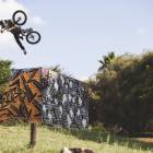 Kevin Peraza styling during the MiTH BMX Tour