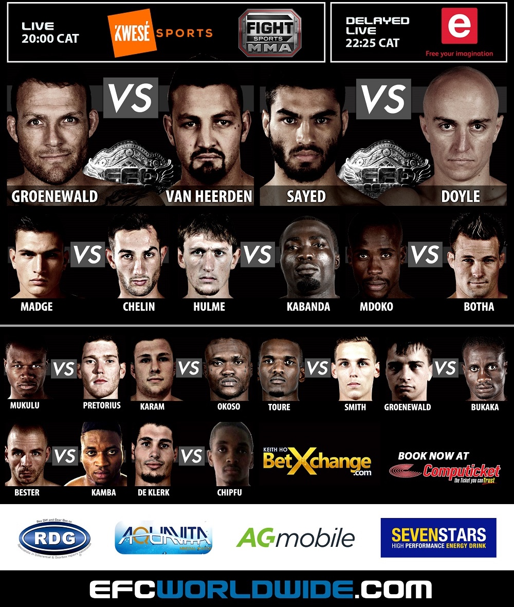 EFC 48 bringing 11 exciting Mixed Martial Arts fights to Cape Town