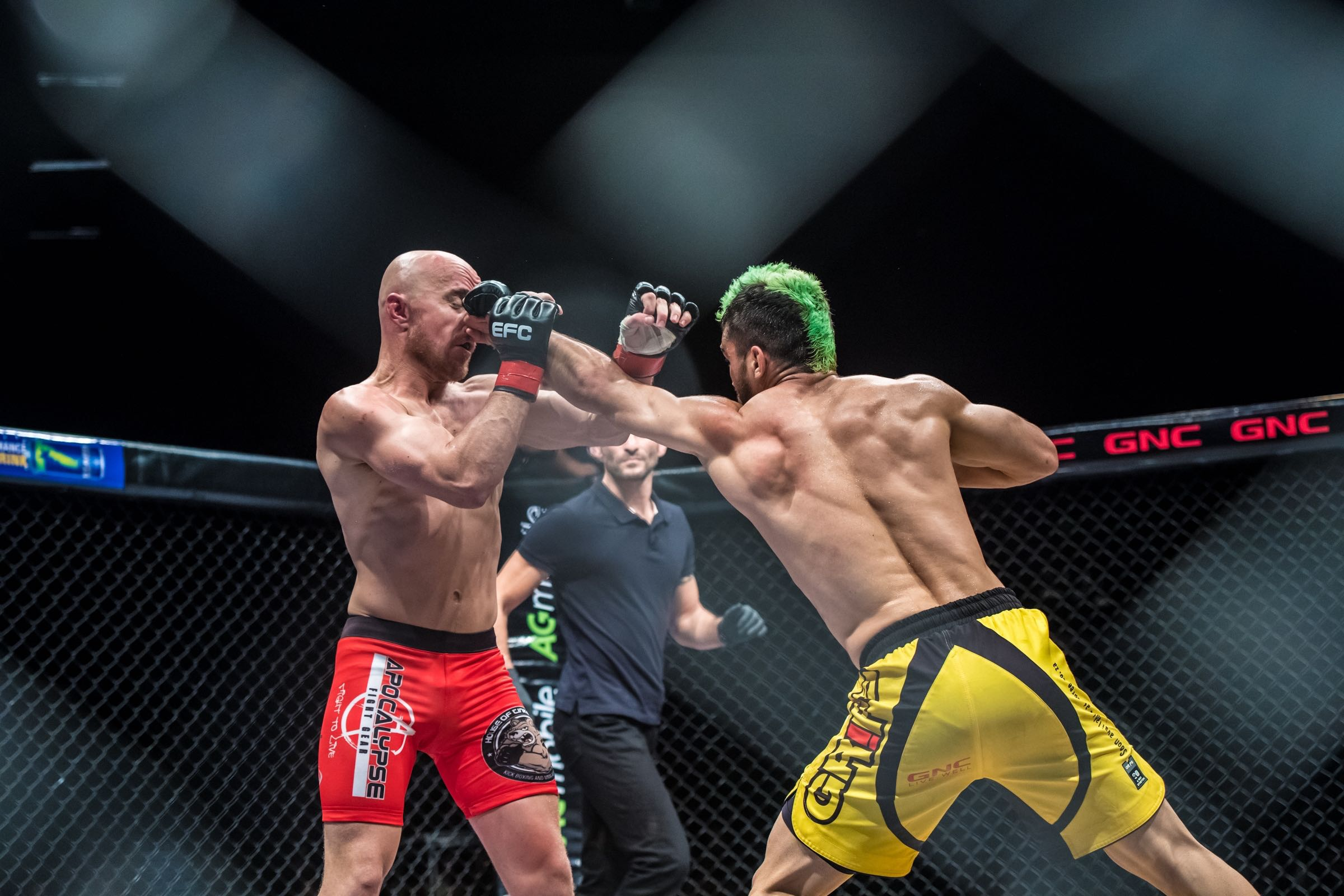 MMA Action with Irshaad Sayed claiming the EFC Bantamweight Title fight