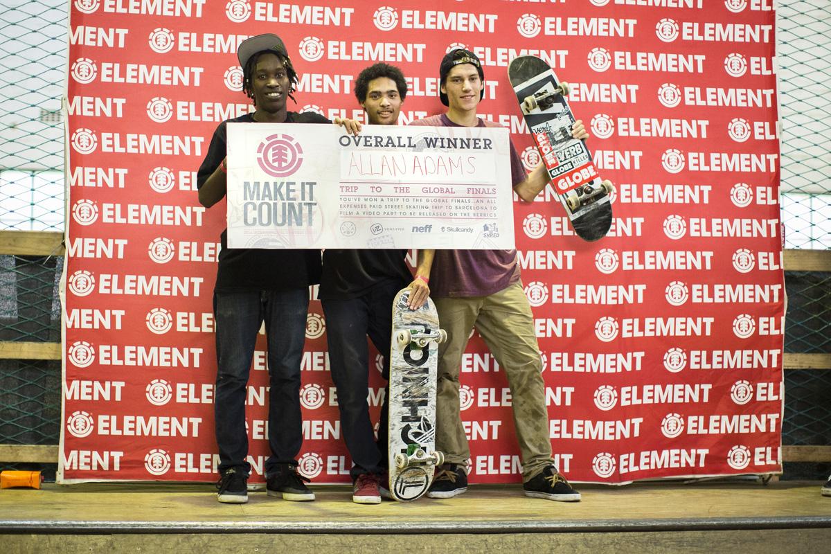 2016 Element Make it Count podium