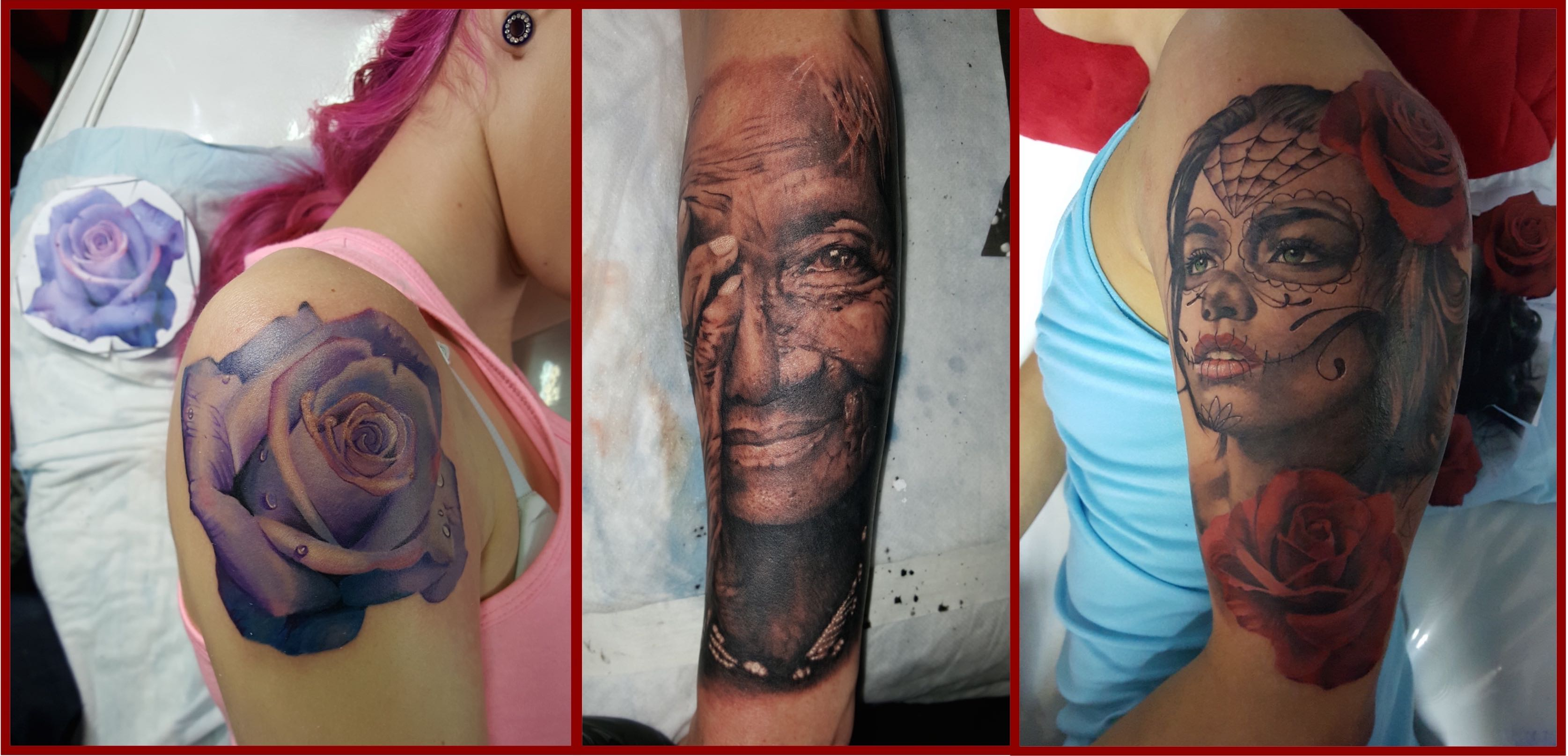 A selection of tattoo done by Bryan Du Rand