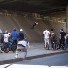 Nathi Steeze - Nathi Steeze - Toboggan on a crusty bank under a bridge