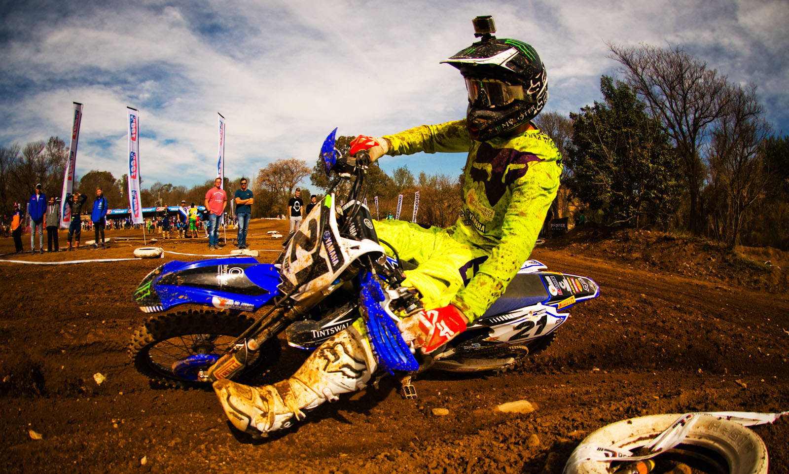 David Goosen racing his way to victory in the MX2 class at round 4 of the Motocross Nationals