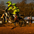 Sacha Naude claiming victory in the MX1 division at round 4 of the SA motocross nationals