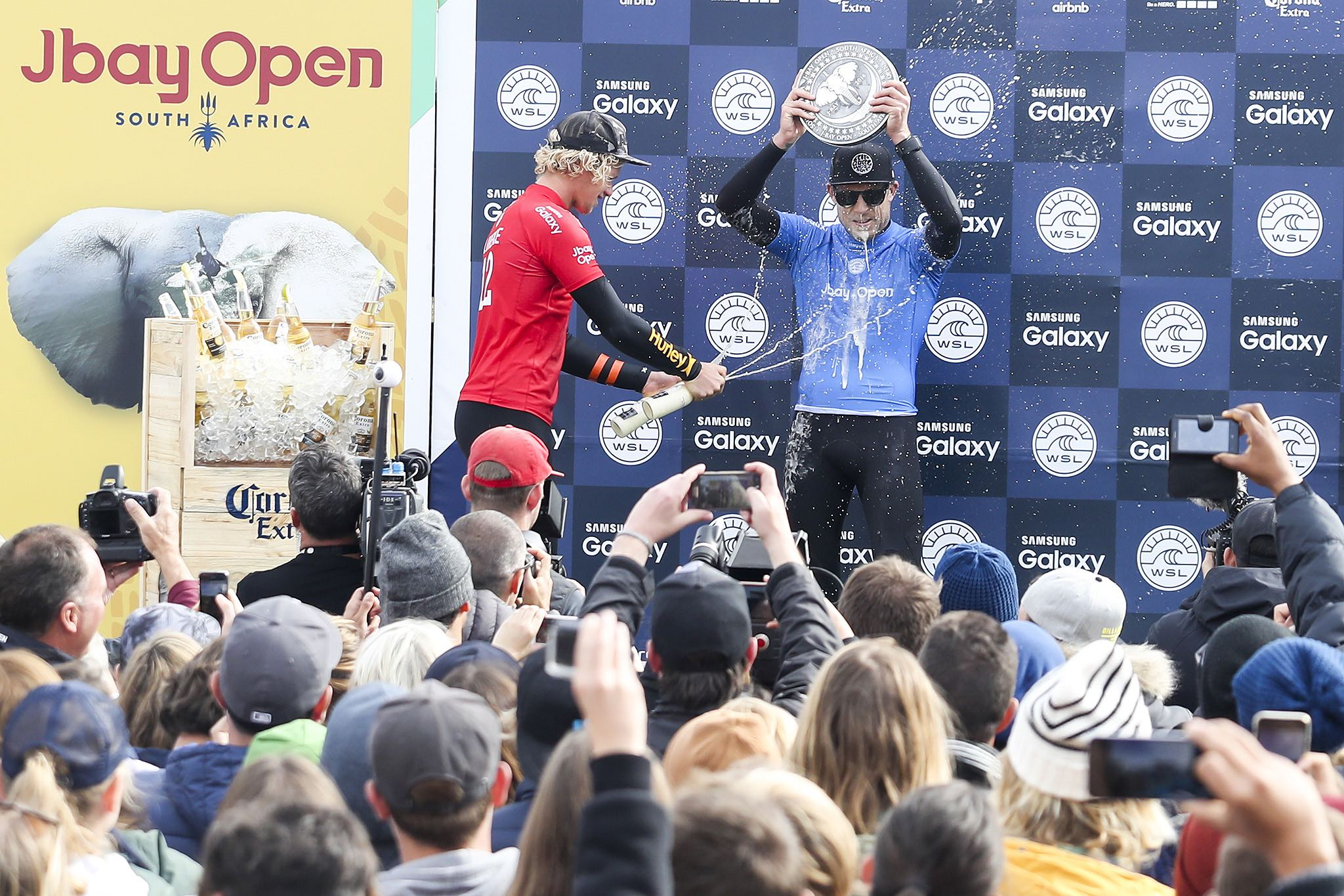 J-Bay Open of Surfing prize giving