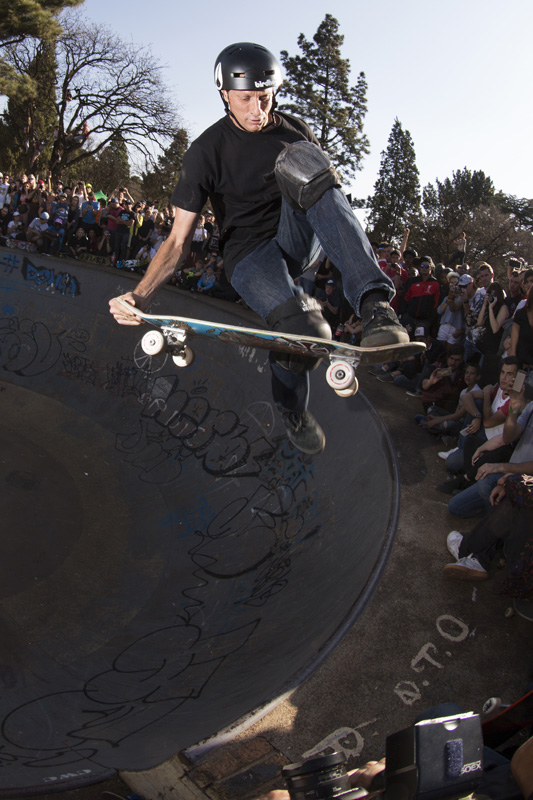 Tony Hawk skating the Germiston Bowl