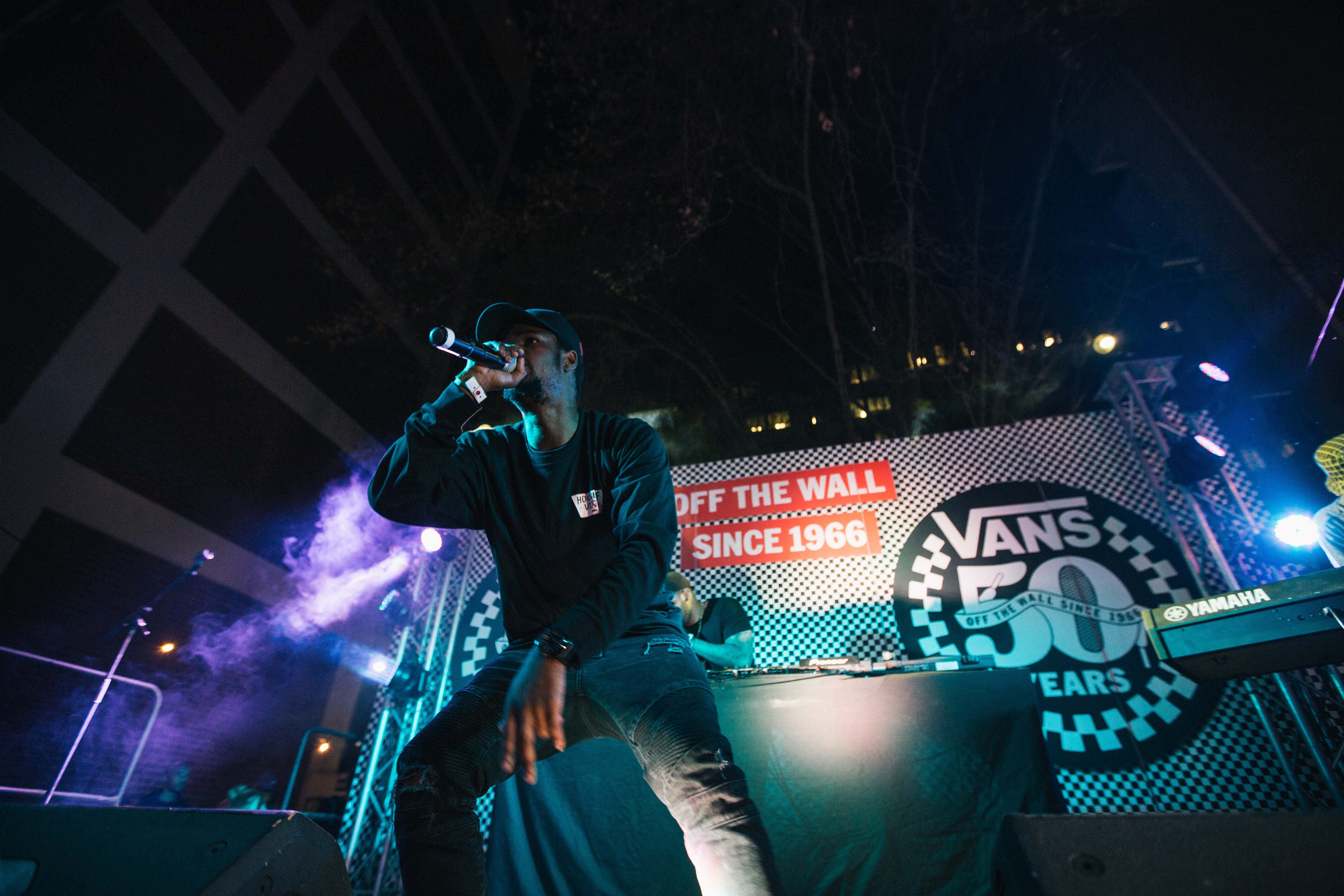KiD X performing at House of Vans Johannesburg