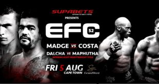 EFC 52 bringing 11 exciting MMA fights to Cape Town on 5 August