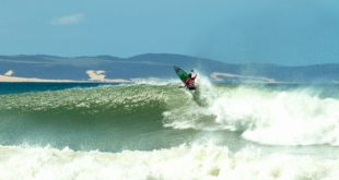 Angelo Faulkner surfing her way through the rounds at the 2016 Billabong SA Junior Champs