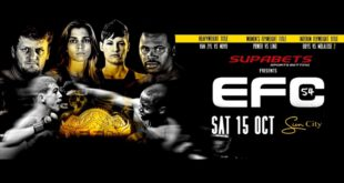 EFC 54 bringing exciting MMA fight to Sun City this October