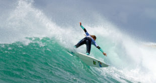 Kai Woolf surfing in the Billabong Junior Series at Seal Point