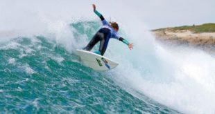 Kai Woolf surfing at the 2016 Billabong SA Junior Champs