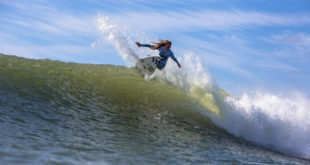 Kirsty Mcgillivray surfing at the 2016 Billabong SA Junior Champs