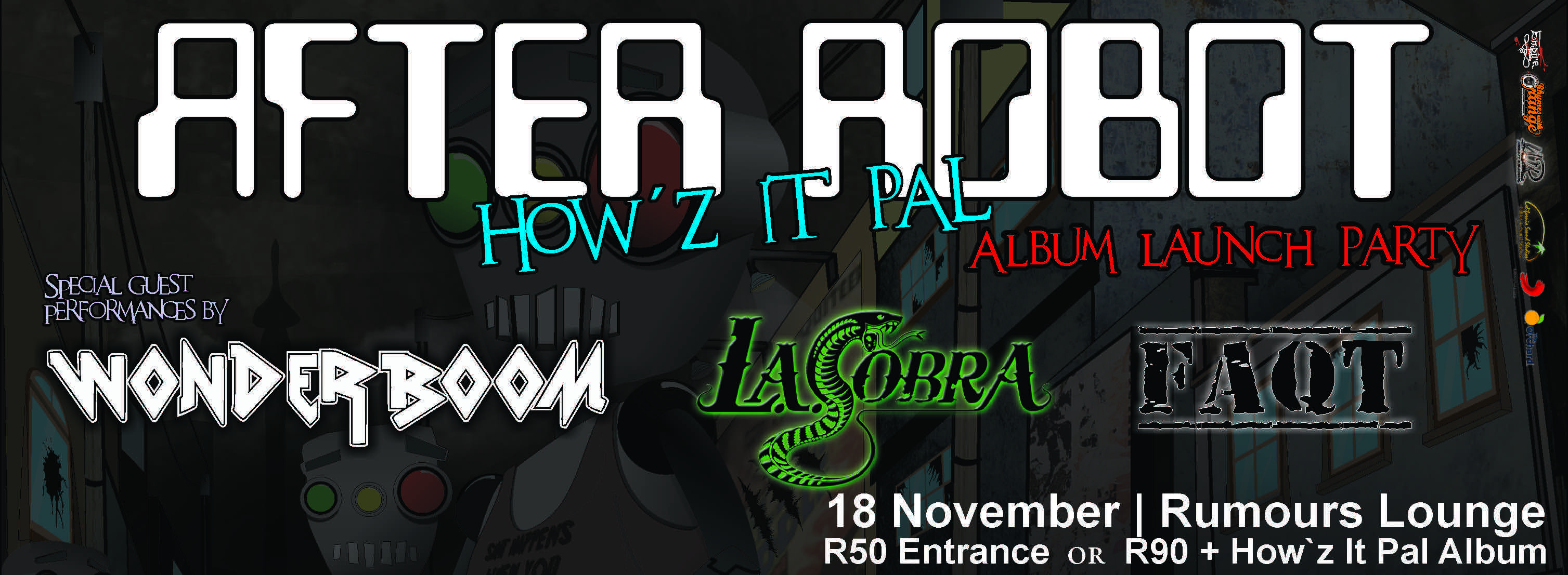 After Robot How'z It Pal Album Launch details or the South African music fans